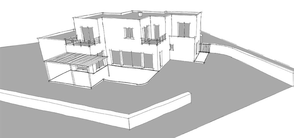 dessin permis de construire h rault plan maison 34 b ziers. Black Bedroom Furniture Sets. Home Design Ideas